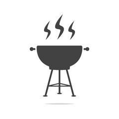 Barbecue grill icon vector isolated