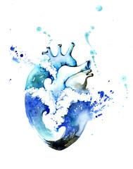 Foto op Aluminium Schilderingen heart