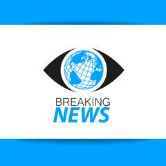breaking news logo template