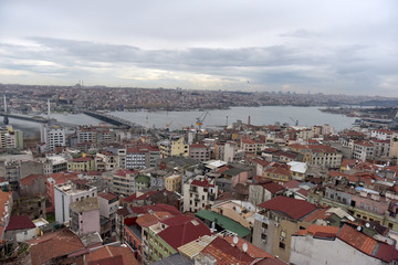 view of the city from the height of the Galata Tower