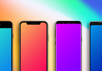 Flat Smartphone Devices Mockups