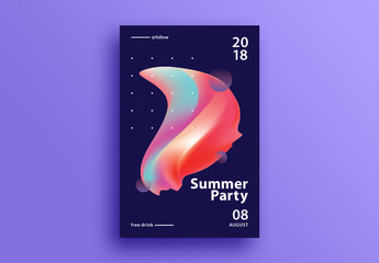 Abstract Event Poster Layout