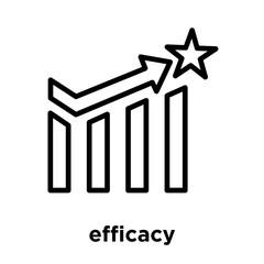 efficacy icon isolated on white background