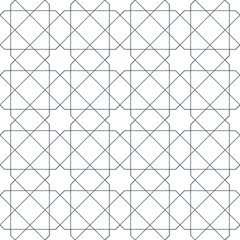 Entwined modern pattern, based on traditional oriental arabic patterns. Seamless vector background. Easy to recolor. Arabesque geometric pattern.