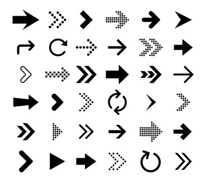 Arrow icon collection. Vector