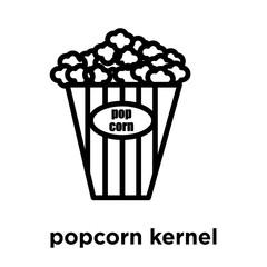 Popcorn Kernel Company Logo Design Template Colorful Vector Icon