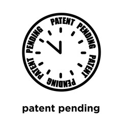 patent pending icon isolated on white background