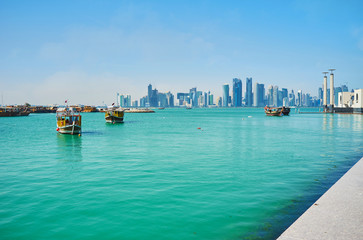 Waterfront in Doha, Qatar