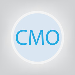CMO (Chief Marketing Officer) concept- vector illustration