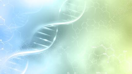 DNA strand abstract illustration