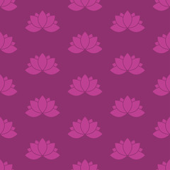 Lotus Flower Seamless Pattern.
