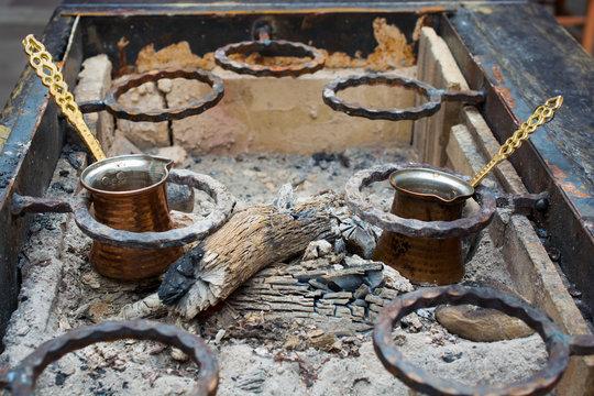 barbecued, Turkish coffee