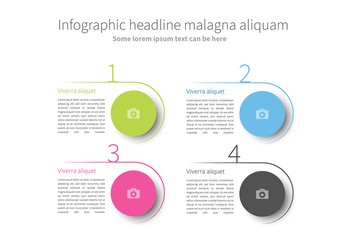 Infographic Layout with Multicolored Circular Elements
