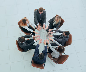 view from the top.business team a lesson on team building