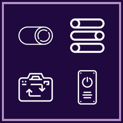Set of 4 switch outline icons