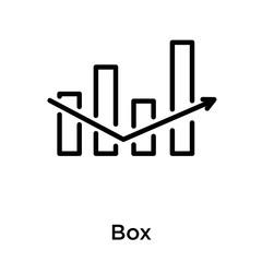 Box icon isolated on white background