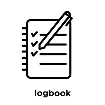 logbook icon isolated on white background