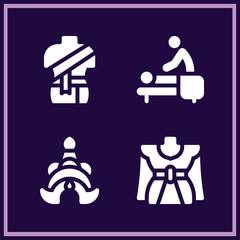 Set of 4 thailand filled icons