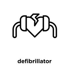 defibrillator icon isolated on white background