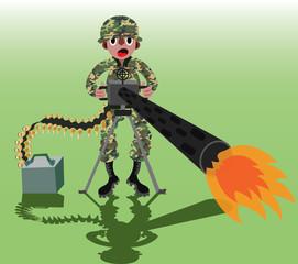 Machine Gun Soldier