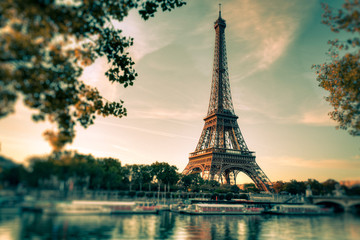 Canvas Print - Tour Eiffel Paris Vintage