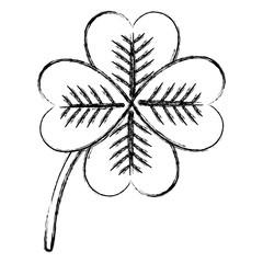 saint patrick clover icon vector illustration design