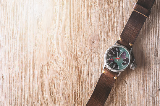 old military style of men wristwatch