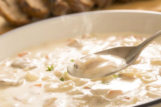 Lunch clam chowder