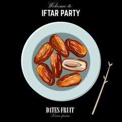 Dates for Iftar Party. Hand drawn