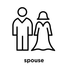spouse icon isolated on white background