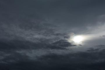 曇天  暗雲 太陽