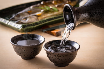 日本酒と秋刀魚