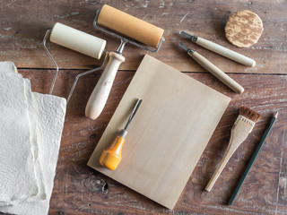 Woodcut Art Tools