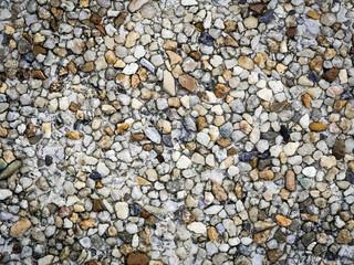 Ground stone washed floor