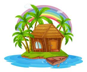 A Hut on a Beautiful Island