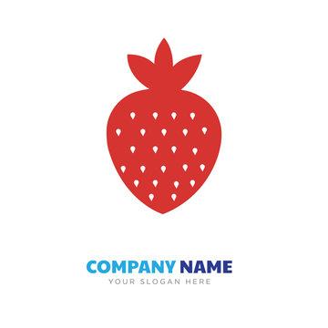 stawberry company logo design