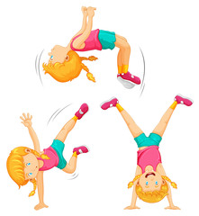 An Energetic Girl Work Out