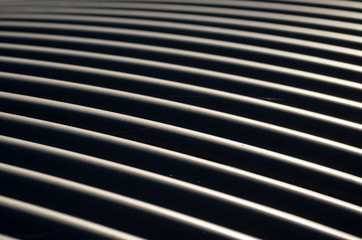 Abstract Full Frame Shot of Striped Metal Pattern in Berlin, Germany