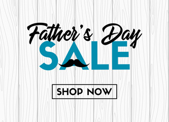 Father's day sale. Vector banner