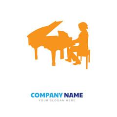 piano player company logo design