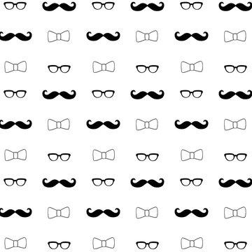 Hipster Seamless Decorative Pattern Background
