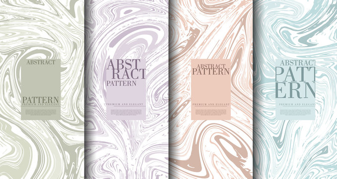 Abstract pop art pattern marble element classy pastel background template collection vector