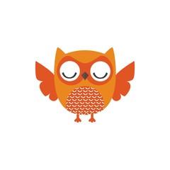 nice owl logo vector cartoon