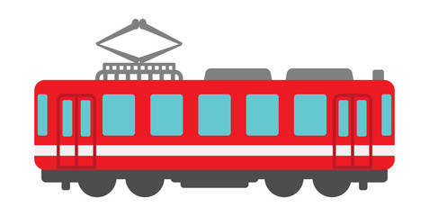 Red Train vector Illustration