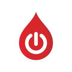 Water symbol. Power Button Icon. Logo. vector Eps10.