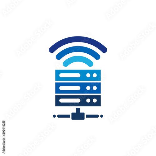 network server logo icon design obrazów stockowych i plików