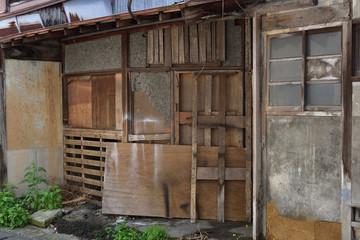 日本の岡山県の高梁市のレトロな風景