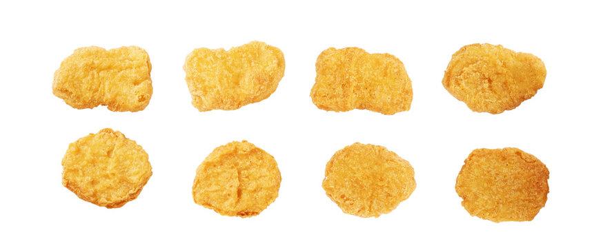 Fried chicken nuggets set