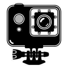 Action camera icon. Extreme Ultra HD. 4K camera for active sports. Vector illustration.