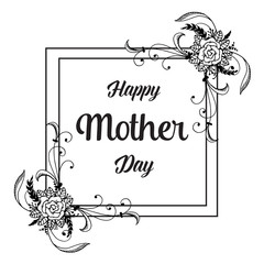 Happy mother day beatiful gretting card